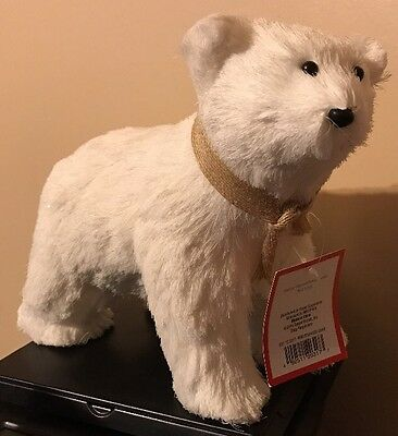 NWT Decorative Polar Bear Figure for Winter or Christmas Display NEW