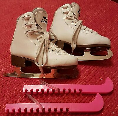 Girls Ice Figure Skates with blade guards