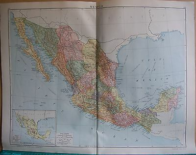 1919 Large Map- Central America, Mexico
