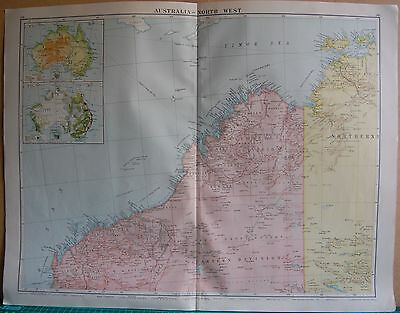 1919 Large Map- Australia, North West