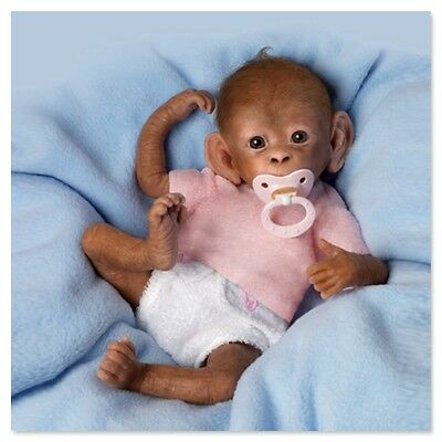 Ashton Drake - Coco So Truly Real Baby Monkey Doll by Linda Murray