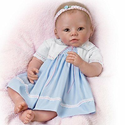 Ashton Drake Linda Murray Lifelike Baby Girl Doll - You Fill a Space in My Heart