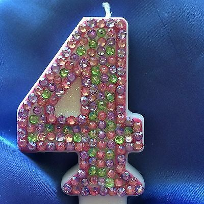 Dr McStuffins Diamante Birthday Candle Any Number Cake Topper Bling