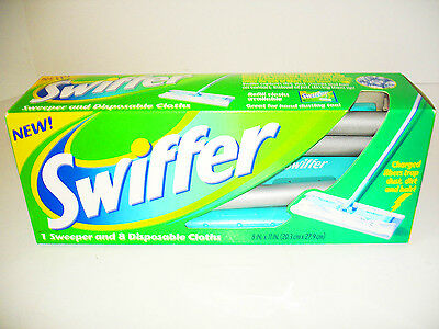 New Swiffer Sweeper Floor Mop Starter Kit With 8 Disposeable Cloths