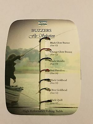 Shakespeare Buzzers Fly Selection Flies New In Packet