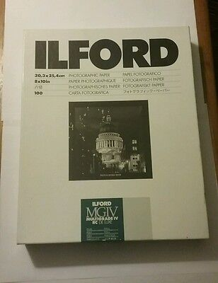"ILFORD MGIV RC 8x10""  PEARL Multigrade  Photographic Paper opened"