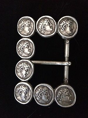 Antique Greek Coins Sterling Silver Buckle