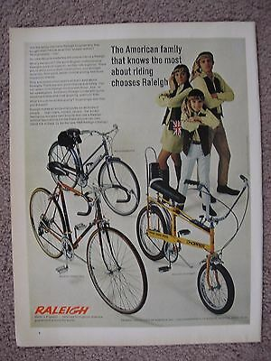 1969 Raleigh Bikes Chopper Large Full Page Color Ad Free Shipping