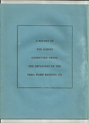 1956 Survey result Theo. Hamm Brewing Co. RARE item Fred Rudge Inc.