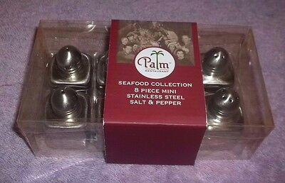 "Set of 6 Stainless Steel Spice, Sugar, Salt Pepper Shaker 2 1/4"" TALL"