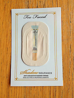 Too Faced Shadow Insurance Anti- Crease Eye Shadow Primer Sample - New