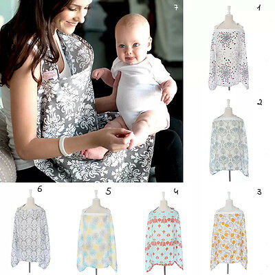 AU 3in1 Baby Breastfeeding Nursing Cover 100%Cotton Blanket 100x70cm Maternity