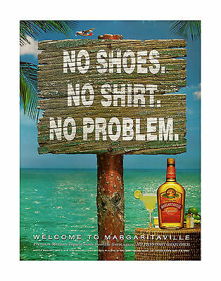 "RARE Jimmy Buffett Margaritaville No Problem Poster Print 11""x14""(29x36cm)"