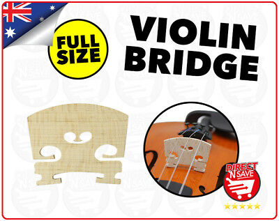 Full Size 4/4 Violin Bridge Maple Wood High Quality Replacement Part
