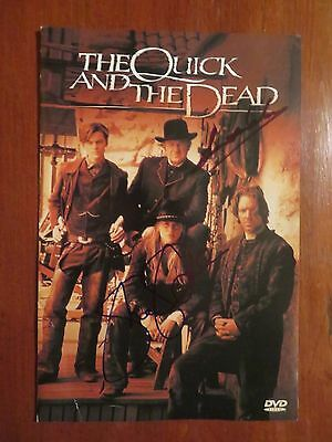 Signed Autographed DVD Insert The Quick & The Dead - Sharon Stone & Gene Hackman