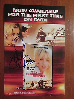 Signed Autographed DVD Insert Sugarland Express - Goldie Hawn