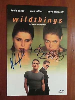 Signed Autographed DVD Insert Wild Things - Neve Campbell & Denise Richards