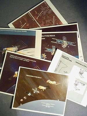 VINTAGE NASA LOT OF TIROS SYSTEM & SATELLITE PHOTOS on KODAK PAPER