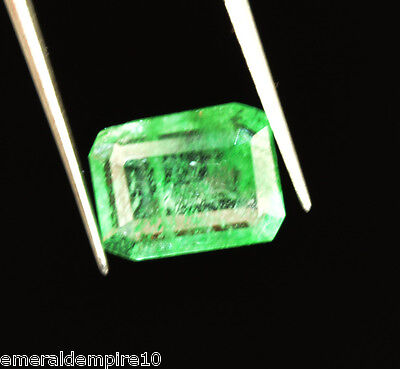 2.80 CT. Natural GGL Certified Transparent Zambian Green Emerald Loose Gemstone