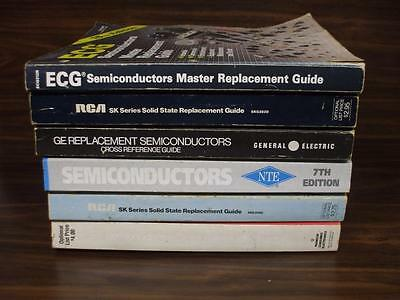 Lot of 6 Semiconductor & Solid State Replacement Guide Books Electronic Repair