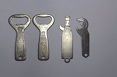 Group Of 4 Different Orange Crush Bottle Openers