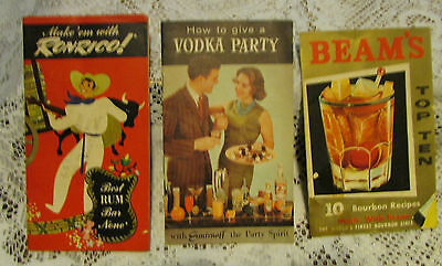 vintage alcohol advertising ,recipes,booklets 1950's-60's
