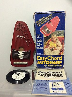 1981 EASY CHORD AUTOHARP Oscar Schmidt NATURAL WOOD W/ BOX,SONGS & TUNING OS-6