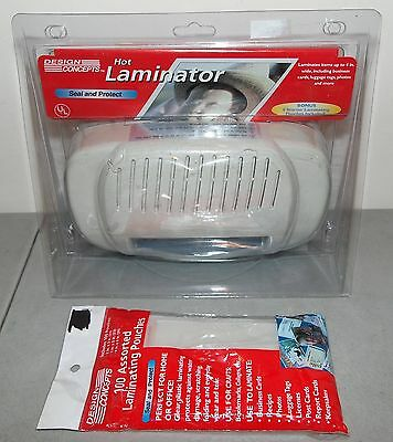 """New!! DESIGN CONCEPTS """"Hot Laminator"""" SEALS UP TO 4"""" (100+ Pouches Included!!)"""
