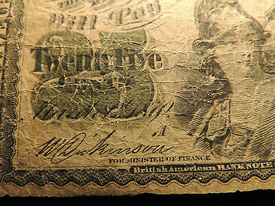 1870 DOMINION OF CANADA SHINPLASTER 0.25 CENTS PAPER MONEY A LETTER DC-1a