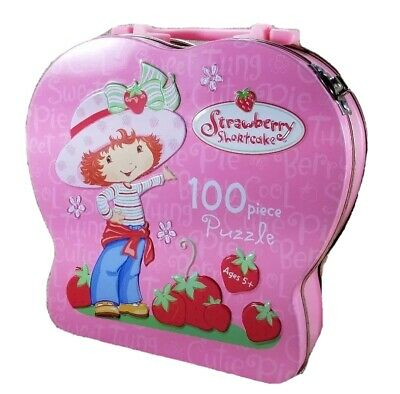 Strawberry Shortcake Lunchbox Puzzle Tin Pink Sweet Girl Collectible Preschool