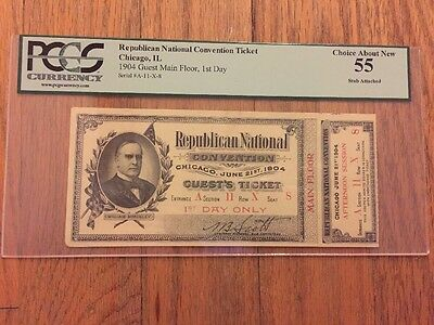 1904 Republican National Convention President Theodore Roosevelt Ticket PCGS 55