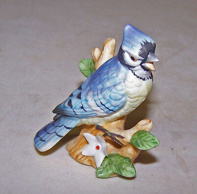 Vintage Small Lefton Blue Jay Bird Figurine
