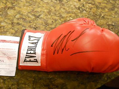 Mike Tyson Signed Right Handed Everlast Boxing Glove Jsa Coa