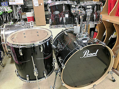 """Pearl Vision All Birch Drum Shell Pack, 22, 10, 12, 14"""", Old School Pinstripe"""