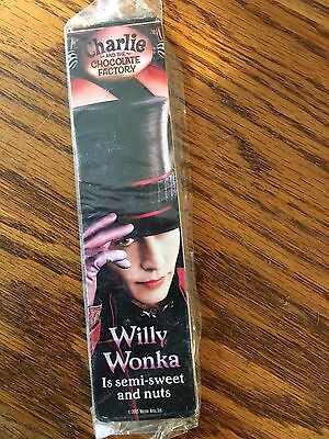 Rare 2005 Vintage Charlie Chocolate Factory Johnny Depp Bookmarks Willy Wonka
