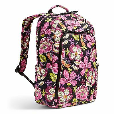 NWT Vera Bradley Factory Exclusive Laptop Backpack pirouette pink