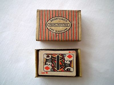 vintage Bryant and May's Pearl matchbox, made in Scotland