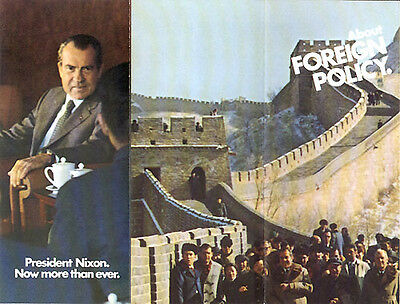 Official 1972 Richard Nixon Campaign Brochure FOREIGN POLICY China (1450)
