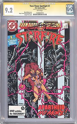 TEEN TITANS SPOTLIGHT 1, CGC 9.2 SS signed GEORGE PEREZ, Teen Titans MOVIE!