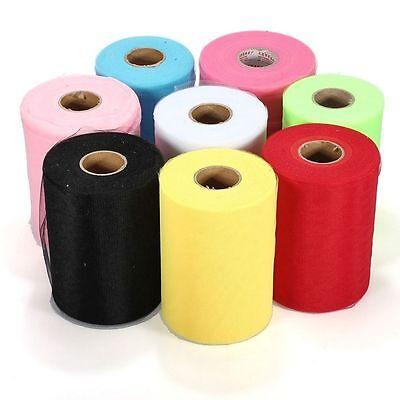 Wrap Fabric Party Bridal Decoration Craft Gift Wedding Tulle Roll Spool