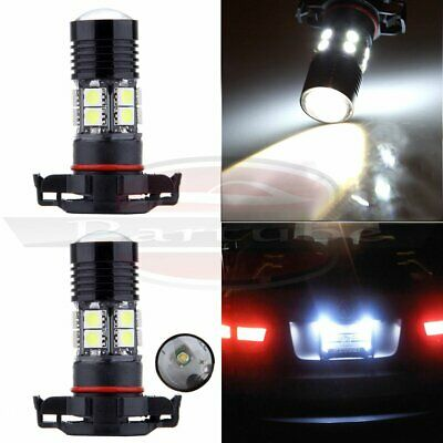 2x H16 5202 Projector 6000K Pure Cree LED 12 SMD Light 60W Fog Driving Lamps