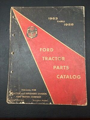 Ford Tractor Parts Catalog 1953-1958
