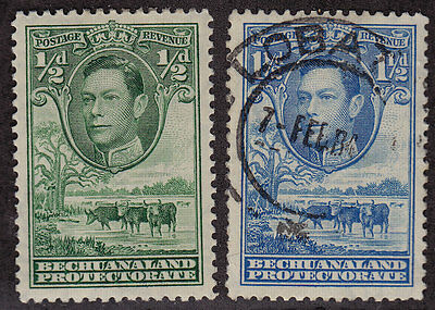 BECHUANALAND PROTECTORATE Scott # 124 MH, 126 Used King George VI (1 Stamp) -20