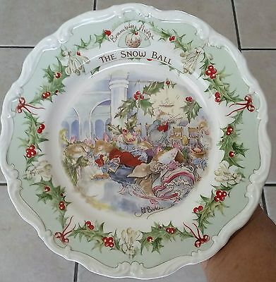 """Royal Doulton Vintage 1984 """" The Snow Ball Collectors Plate"""""""