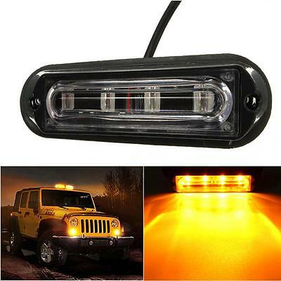400LM DC 12-24V 4 LED Car Truck Strobe Flash Warning Light Side Maker Light