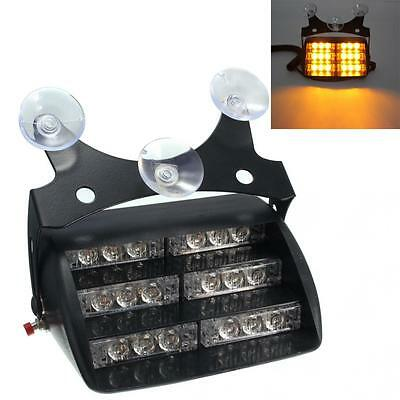 18 Car LED Emergency Light DC 12V  6W Amber light color for Car / Truck / SUV