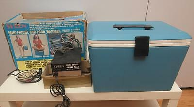 VINTAGE Retro SHEEN Portable CAR Fridge COOLER Warmer ORIGINAL Box 240V ADAPTER