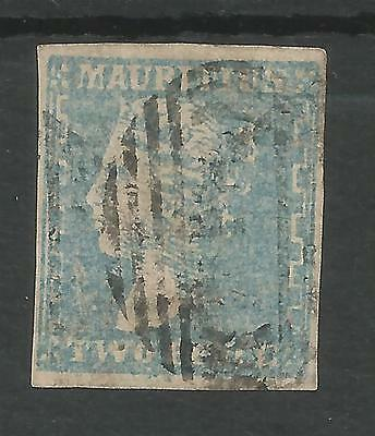 MAURITIUS  SG44 THE 1859 DARDENNE 2d PALE BLUE LOVELY 4 MARGIN EXAMPLE CAT £850
