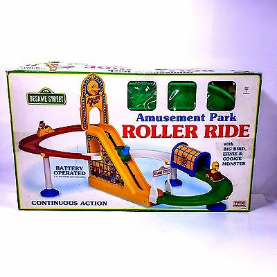 Sesame Street Amusement Park Roller Ride Toy Tyco Tested Works Great