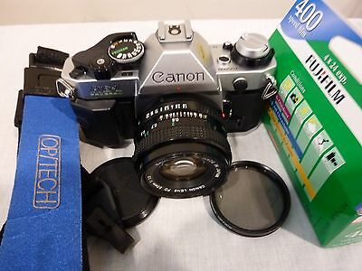 Canon AE-1 Program Camera w/Canon 50mm F/1.8 Lens Excellent